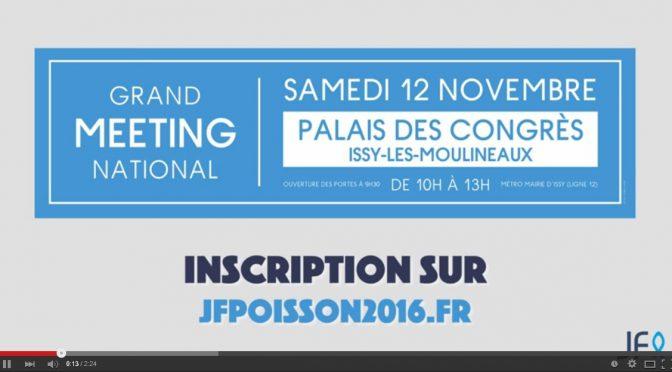 Vidéo d'annonce pour le grand meeting national du samedi 12 novembre !