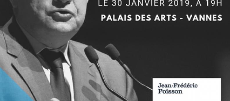 J-1 : Conférence-dédicace de Jean-Frédéric Poisson à Vannes (56)