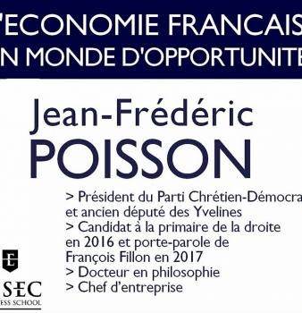 Conférence de Jean-Frédéric Poisson sur l'économie à l'ESSEC