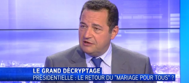 Abrogation du mariage pour tous : j'étais l'invité d'Olivier Galzi pour le Grand Décryptage sur Itélé