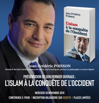 Conférence-dédicace de Jean-Frédéric POISSON à l'ISSEP Lyon – L'islam à la conquête de l'Occident