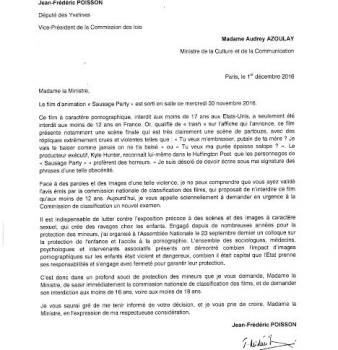 «Sausage Party» – Lettre ouverte à la Ministre de la Culture