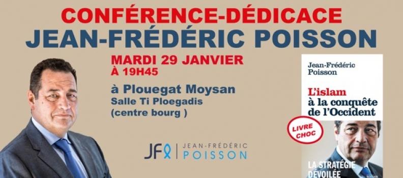 Conférence-débat de Jean-Frédéric Poisson à Plouégat-Moysan (29) près de Morlaix mardi 29 janvier