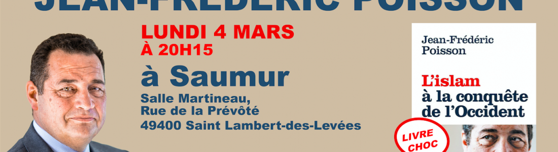 Jean-Frédéric Poisson en tournée dans les Pays de La Loire les 4 et 5 mars