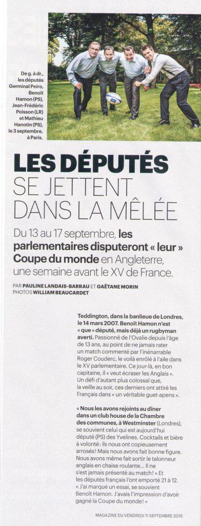 Le Parisien- Rugby - 11092015