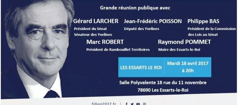 Présidentielle : réunion de soutien à François Fillon à Les Essarts Le Roi, mardi 18 avril