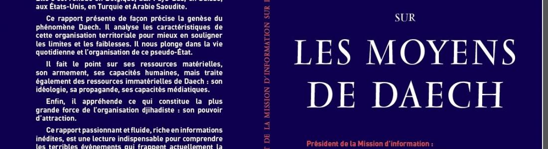 «Les moyens de Daech» – Livre paru aux Editions Equateurs.