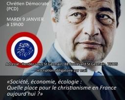 Conférence de Jean-Frédéric Poisson mardi 9 janvier 2018