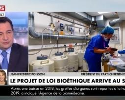 Jean-Frédéric Poisson sur CNEWS pour combattre le projet de loi bioéthique et la PMA sans Père