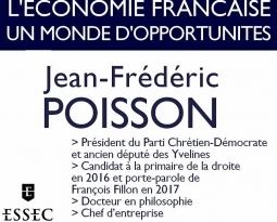 VIDEO – Conférence de Jean-Frédéric Poisson sur l'économie à l'ESSEC