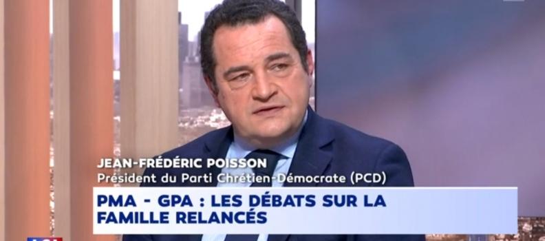 Jean-Frédéric Poisson sur LCI sur le débat bioéthique