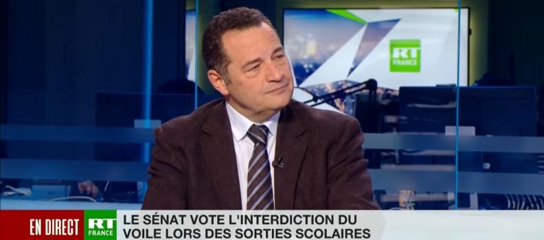 Interview politique de Jean-Frédéric Poisson sur RT France