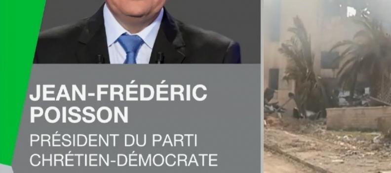 Syrie : Jean-Frédéric Poisson dénonce les frappes militaires infligées à Damas, sur RT France