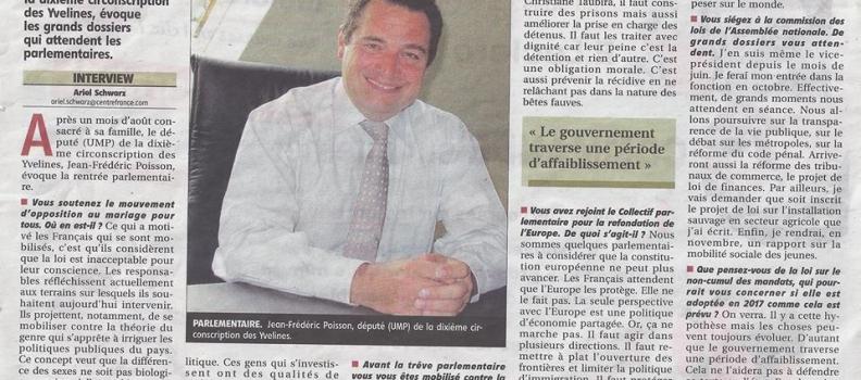 Primaire 2016 : j'étais l'invité de Daic Audouit dans l'émission Samedi politique sur France 3