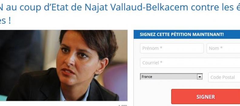 NON au coup d'Etat de Najat Vallaud-Belkacem contre les écoles libres ! Signez la pétition !