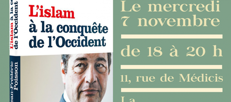 Jean-Frédéric Poisson dédicacera son dernier ouvrage à la Nouvelle Librairie le 07/11