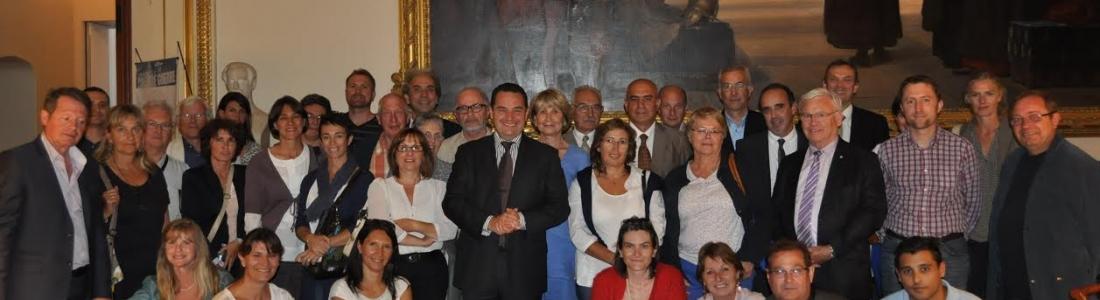 Visite de l'Assemblée nationale avec des élus des Yvelines